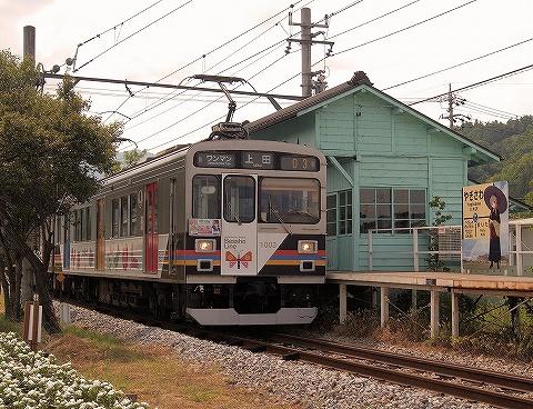 上田電鉄1000系@八木沢'19.6.1