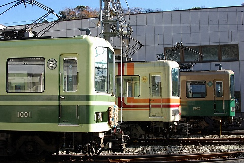 江ノ電1000形@極楽寺検車区4