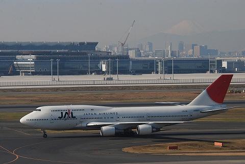JALボーイング747-400@羽田空港'09.12.23