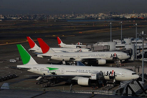 JALボーイング777-200@羽田空港'09.12.23