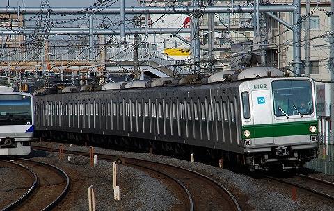 東京メトロ6000系@北松戸'10.1.27