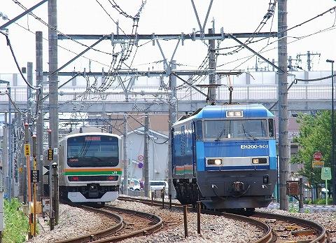 E231系&EH200-901@宮原'10.6.19