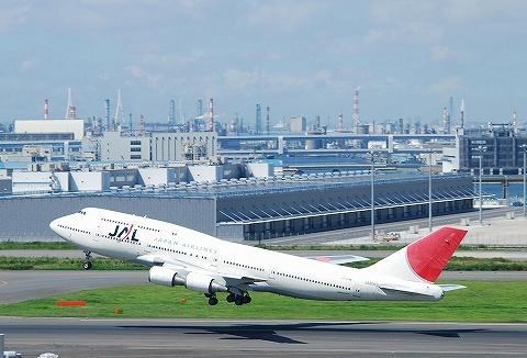 JLボーイング747-400@羽田空港'10.7.17
