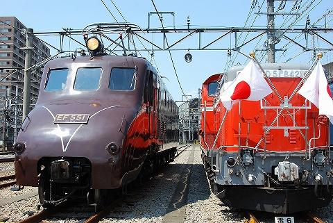 EF55-1&DD51-842@高崎車両センター'10.7.24
