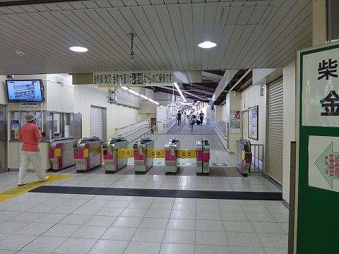 京成金町線改札口@京成高砂