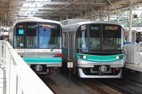 東京メトロ9000系@多摩川'10.10.3