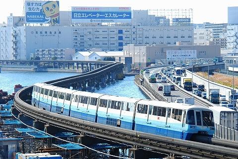 東京モノレール1000形@大井競馬場前'10.12.11-1