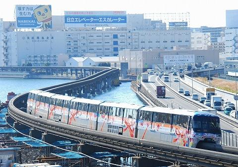 東京モノレール1000形@大井競馬場前'10.12.11-2