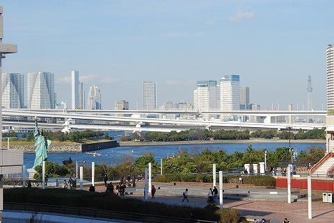 台場駅からの眺め