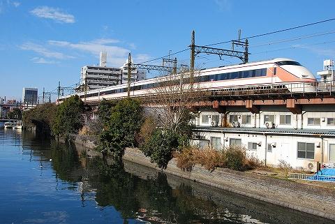 東武100系@業平橋'11.1.2