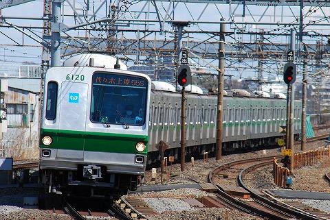 東京メトロ6000系@金町'11.3.27