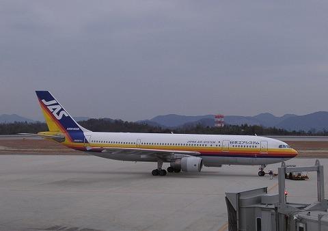 JDエアバスA300-600R@広島空港'02,1