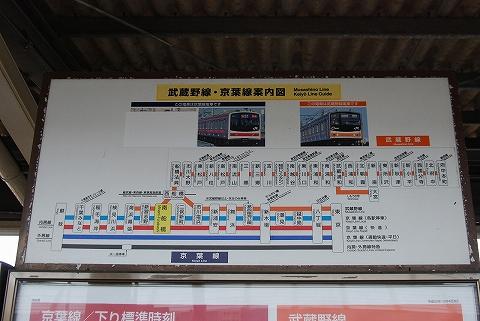 京葉線案内図@南船橋