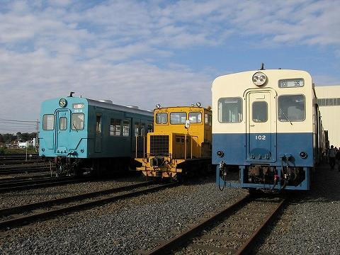 関鉄キハ100形&キハ350形@水海道車両基地'07.11.3