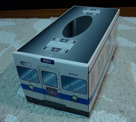 東武8000系ティッシュボックス