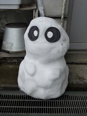 パレオ雪だるま@御花畑'12.1.21
