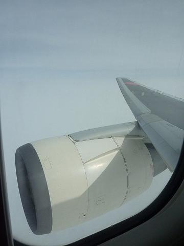 JL107便巡航フライト