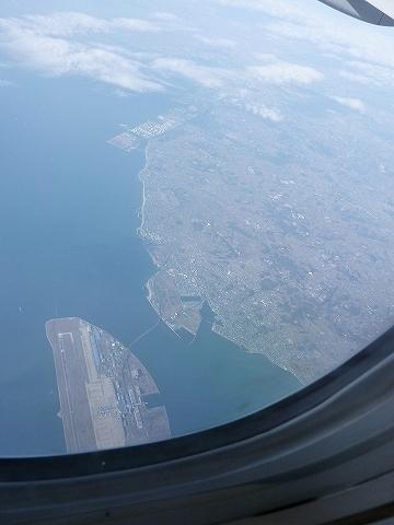 中部国際空港上空@JL124便'12.3.10