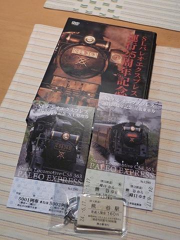 パレオエクスプレス運行25周年記念乗車券