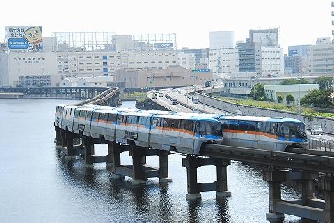 東京モノレール1000形@大井競馬場前'12.9.15-2