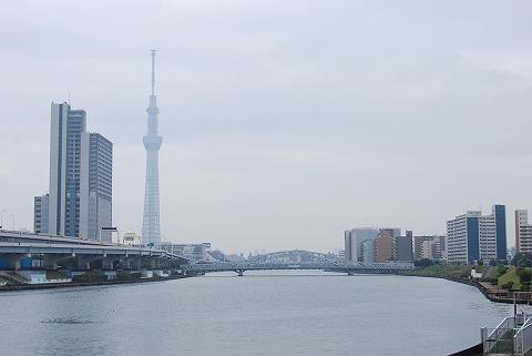 東京スカイツリー@隅田川'12.10.28
