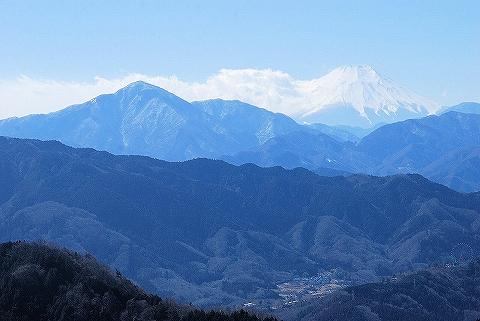 富士山@高尾山山頂'13.2.16