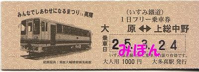 1日フリー乗車券硬券@いすみ