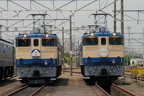 EF65-1107&EF65-1115@田端運転所'13.6.1