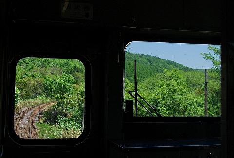 運転台からの眺め@江差線'13.6.7