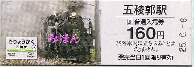記念入場券@五稜郭'13.6.8