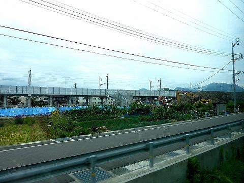 北陸新幹線高架@糸魚川'13.8.4