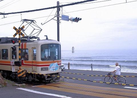 江ノ電1500形@鎌倉高校前'13.8.24‐1