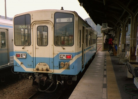 キハ32-20@窪川'94.3.17
