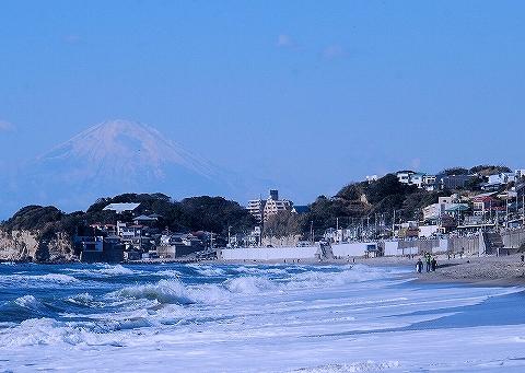 富士山@七里ヶ浜'13.12.15