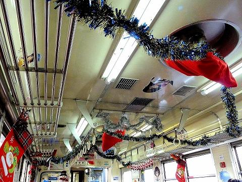 6000形クリスマス装飾'13.12.21