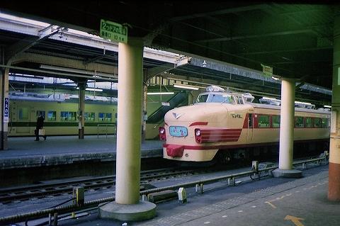 481系@上野'87.3