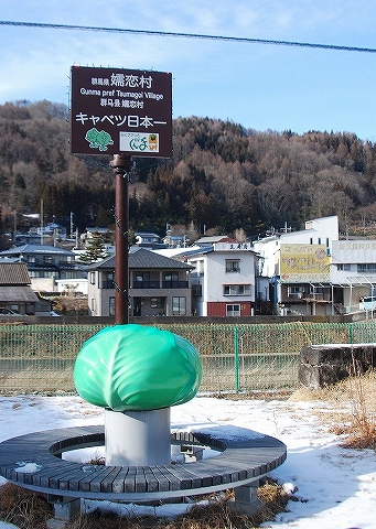 嬬恋村キャベツ日本一像@万座・鹿沢口'14.1.12