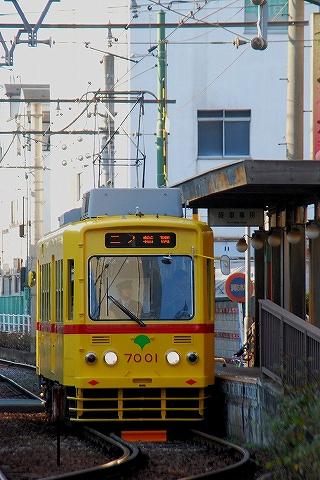 都電7000形@三ノ輪橋'14.1.18