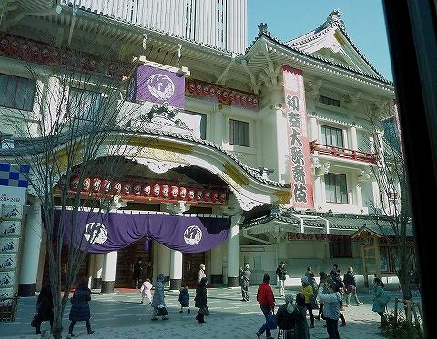 歌舞伎座周辺@業10系統車窓'14.1.18
