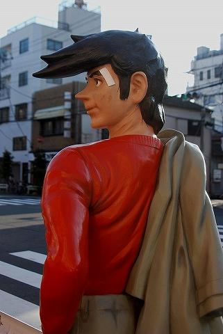 矢吹丈銅像@いろは会商店街'14.1.18