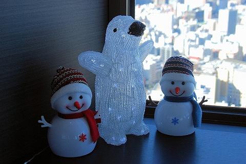 ペンギン&雪だるま@世界貿易センタービル展望台'14.2.16