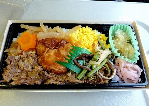 埼京線205系記念弁当中身'14.3.1