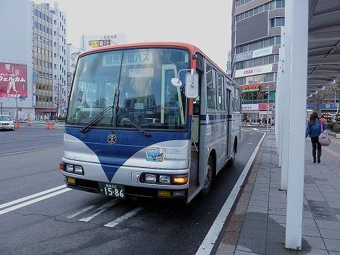 新潟市観光循環バス@新潟駅前'14.3.15