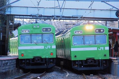 103系@伏見稲荷'14.3.10