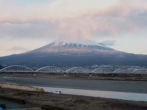 富士山@こだま666号車内'14.3.10