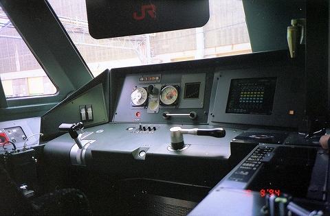 787系運転台@大宮工場'94.10.9