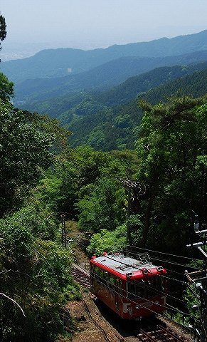 大山観光電鉄ケーブルカー@阿夫利神社前'14.5.31
