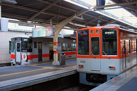 山陽5000系&阪神8000系@山陽姫路'14.7.12