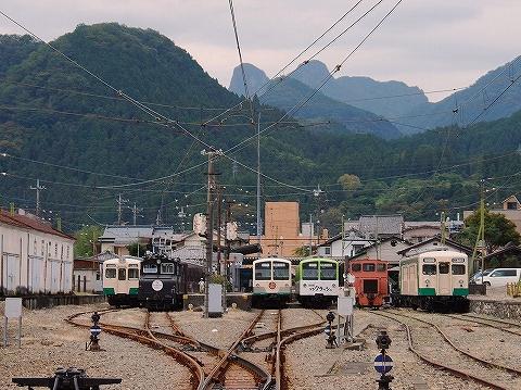 下仁田駅構内'14.10.4