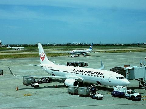 JLボーイング737‐800@台北桃園国際空港'14.9.13